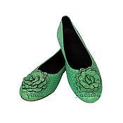 Обувь ручной работы handmade. Livemaster - original item Python ballet flats from SYMPHONY. Handmade.