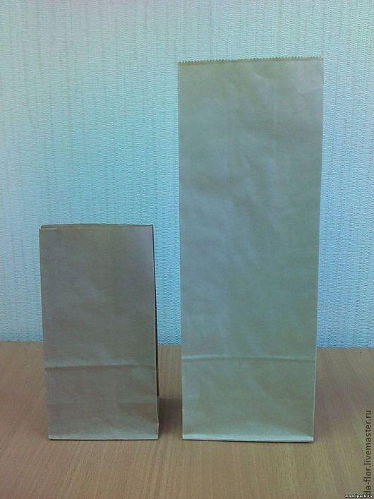 Упаковка ручной работы. Ярмарка Мастеров - ручная работа. Купить Крафт пакет с плоским дном 15см х 9,5см х 30см. Handmade.