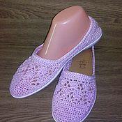 Обувь ручной работы. Ярмарка Мастеров - ручная работа Балетки Нежно Розовый. Handmade.