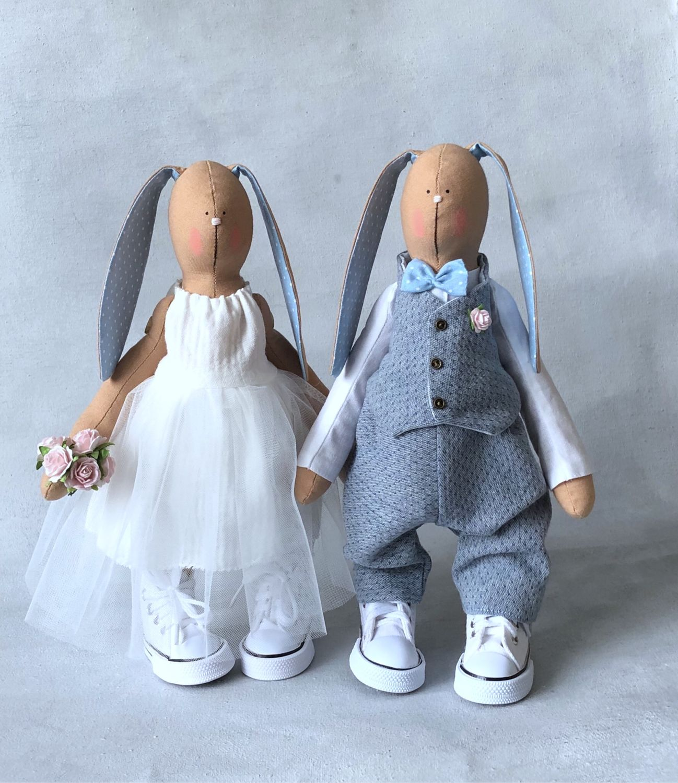 Зайки «жених и невеста». Свадебные подарки. Подарок на годовщину, Подарки, Москва,  Фото №1
