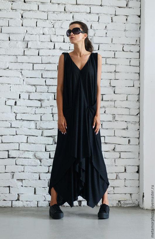Платья ручной работы. Ярмарка Мастеров - ручная работа. Купить Платье вечернее, платье летнее. Handmade. Черный, черное платье