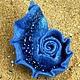 """Броши ручной работы. Ярмарка Мастеров - ручная работа. Купить Синяя войлочная брошь - раковина """"В тени морских глубин"""". Handmade."""