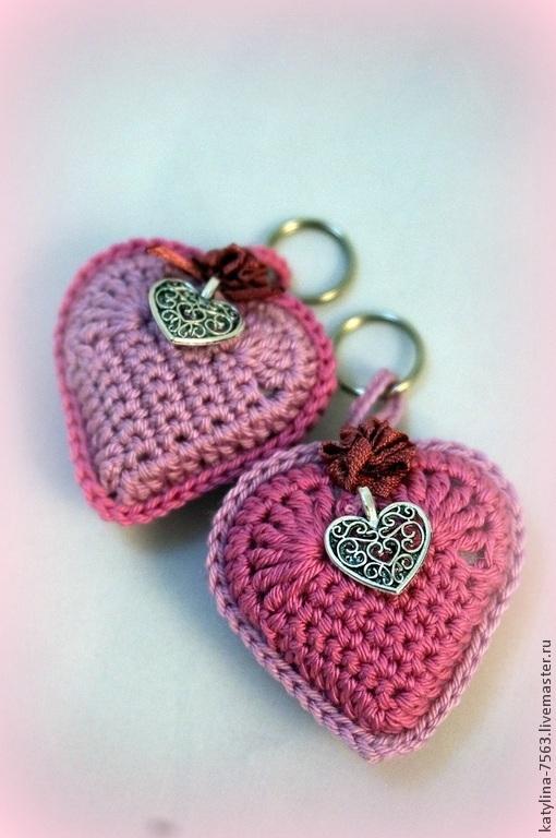 Брелоки ручной работы. Ярмарка Мастеров - ручная работа. Купить Брелок Сердце. Handmade. Розовый, сердечки, брелок на сумку