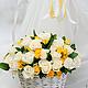 Букеты ручной работы. Ярмарка Мастеров - ручная работа. Купить Корзина белых роз (живые цветы). Handmade. Белый
