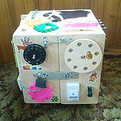 """Куклы и игрушки ручной работы. Ярмарка Мастеров - ручная работа Бизибокс (игровой музыкально-световой куб) """"Час тишины для мамы-2"""". Handmade."""