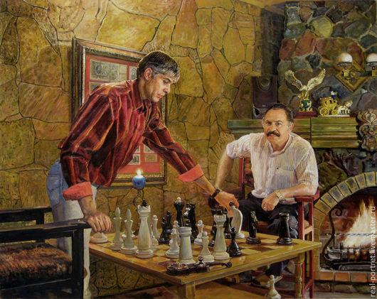 Люди, ручной работы. Ярмарка Мастеров - ручная работа. Купить Портрет на заказ. Handmade. Портрет, холст на подрамнике