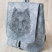 Сумки и аксессуары handmade. Livemaster - original item Backpack Wolf. Handmade.