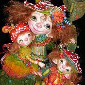 Куклы и игрушки ручной работы. Ярмарка Мастеров - ручная работа Куклы Дочки-матери яркая семья мухоморов в сказочном лесу. Handmade.