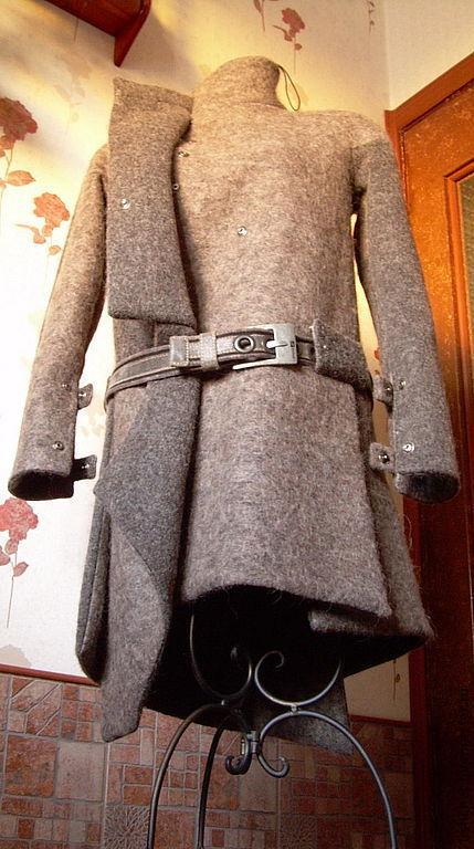 """Верхняя одежда ручной работы. Ярмарка Мастеров - ручная работа. Купить Пальто-шинель в стиле милитари """"Шинель из лодена"""". Handmade."""