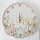"""Часы для дома ручной работы. Ярмарка Мастеров - ручная работа. Купить Часы """"Девочки"""". Handmade. Подарок, разноцветный, часы настенные"""