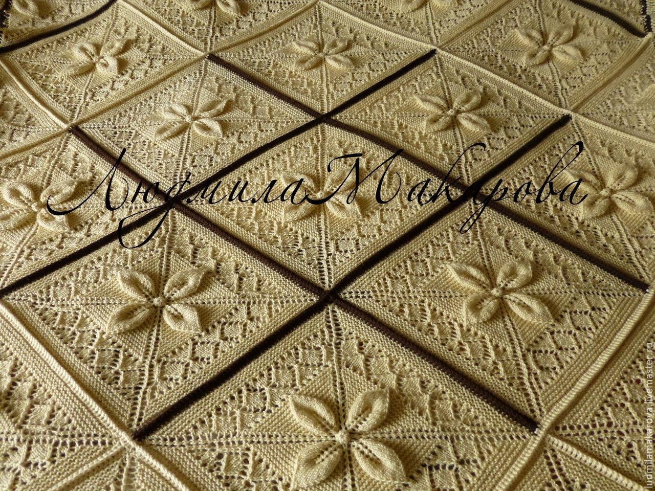 Plaid handmade 'Creme au beurre', Blankets, Moscow,  Фото №1