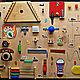 Развивающие игрушки ручной работы. Ярмарка Мастеров - ручная работа. Купить БИЗИБОРД РАЗВИВАЮЩАЯ ДОСКА. Handmade. Комбинированный, развивающие игры