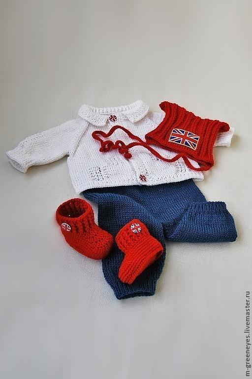 """Для новорожденных, ручной работы. Ярмарка Мастеров - ручная работа. Купить Комплект для новорожденного """"British Empire-II"""". Handmade."""