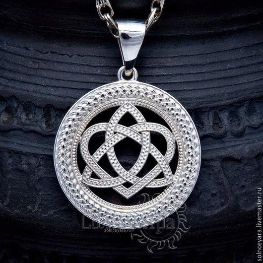 Обереги, талисманы, амулеты ручной работы. Ярмарка Мастеров - ручная работа. Купить Кельтский узел любви в круге. Handmade. Оберег