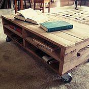 Для дома и интерьера ручной работы. Ярмарка Мастеров - ручная работа Комбинированный столик лофт из массива дуба. Handmade.