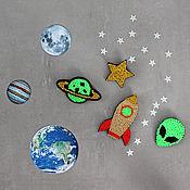 Украшения handmade. Livemaster - original item Set of four brooches Space. Handmade.