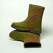 """Обувь ручной работы. Ярмарка Мастеров - ручная работа Валяные сапожки """"Forest Tale. Лесные истории"""". Handmade."""