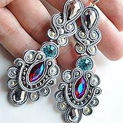 Украшения handmade. Livemaster - original item Soutache jewelry earrings