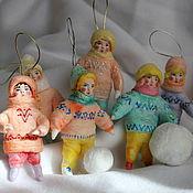 Подарки к праздникам handmade. Livemaster - original item Christmas decorations made of cotton, a series of
