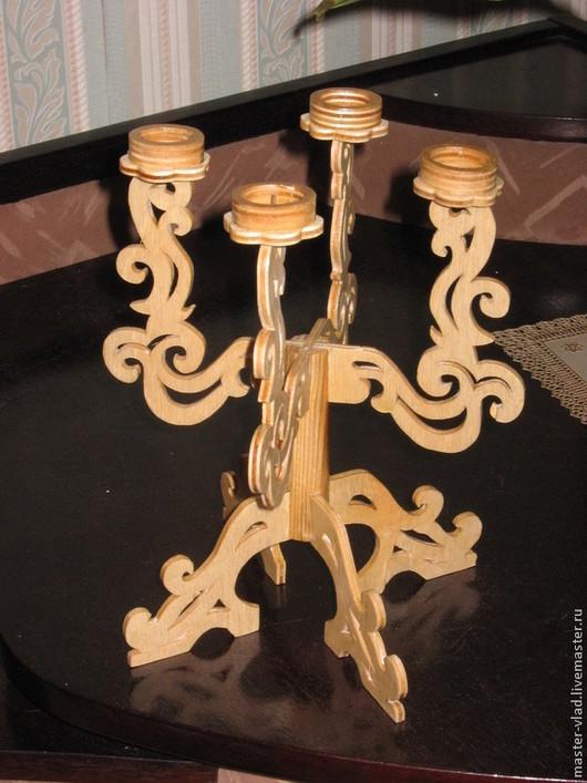 Подсвечники ручной работы. Ярмарка Мастеров - ручная работа. Купить Подсвечник на 4 свечи. Handmade. Интерьер, освещение, подсвечник