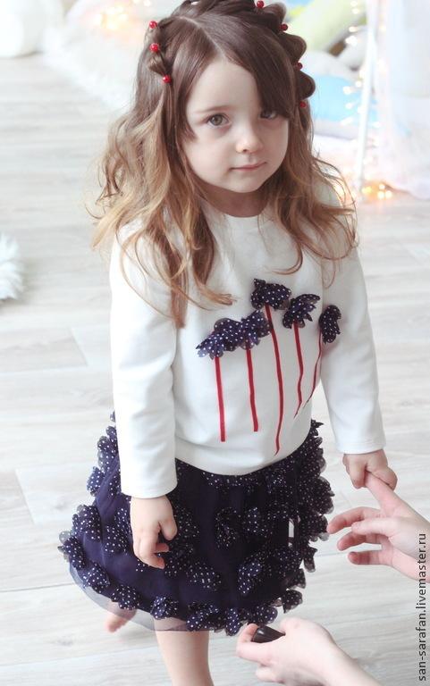 Одежда для девочек, ручной работы. Ярмарка Мастеров - ручная работа. Купить Детский комплект пышная юбка и свитшот. Handmade. Юбочка
