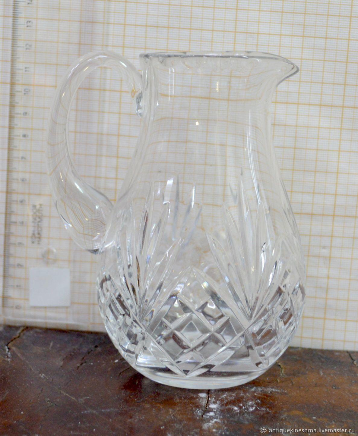 Jug milkman crystal, Vintage kitchen utensils, Kineshma,  Фото №1