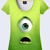 """Одежда ручной работы. Ярмарка Мастеров - ручная работа Женская футболка """"Майк Вазовски"""". Handmade."""