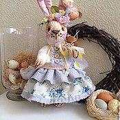 Куклы и игрушки ручной работы. Ярмарка Мастеров - ручная работа Пасхальная  зайка. Handmade.