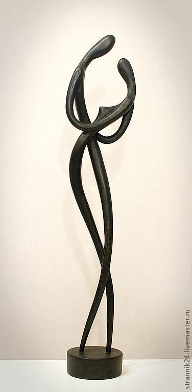"""Статуэтки ручной работы. Ярмарка Мастеров - ручная работа. Купить """"Танго"""" скульптура из дерева. Handmade. Черный, танго, мужчина и женщина"""