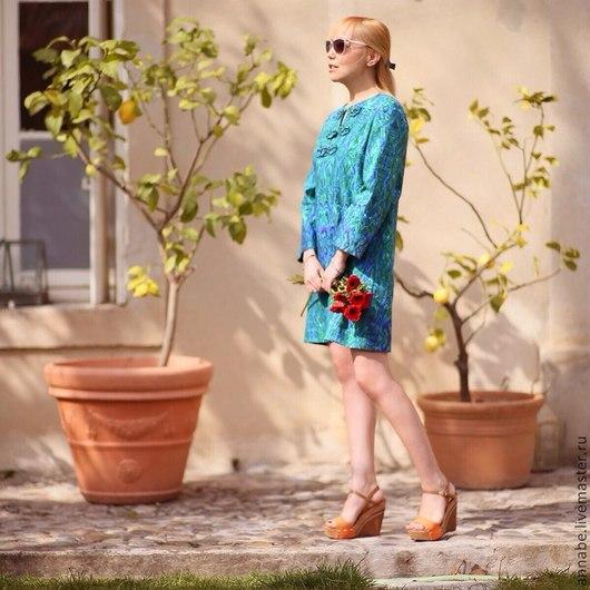 Платья ручной работы. Ярмарка Мастеров - ручная работа. Купить Платье Северное сияние Хлопок 100% Кружево. Handmade. Платье