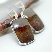 Украшения handmade. Livemaster - original item Earrings with agate