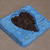 Для дома и интерьера ручной работы. Ярмарка Мастеров - ручная работа Ключница деревянная с кофе, состаренная.. Handmade.