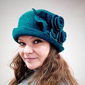 Аксессуары handmade. Livemaster - original item Hat felted Sea wave. Handmade.