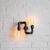 Для дома и интерьера handmade. Livemaster - original item Lamp-wall lamp made of water pipes