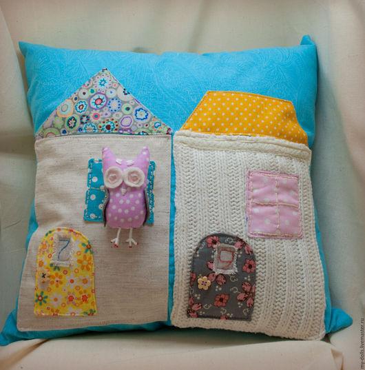 Текстиль, ковры ручной работы. Ярмарка Мастеров - ручная работа. Купить Набор подушек Домики с совушкой. Handmade. Подушка
