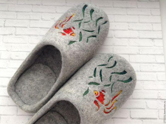 Обувь ручной работы. Ярмарка Мастеров - ручная работа. Купить Тапочки мужские валяные. Handmade. Тапочки, тапочки домашние, обувь
