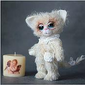 Куклы и игрушки ручной работы. Ярмарка Мастеров - ручная работа Софья. Белая кошечка.. Handmade.