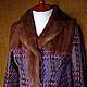 """Верхняя одежда ручной работы. Пальто в клетку утеплённое """"Шотландский тартан""""с норкой. Kseniya i Studiya dizajna 'KsMezo'. Ярмарка Мастеров."""