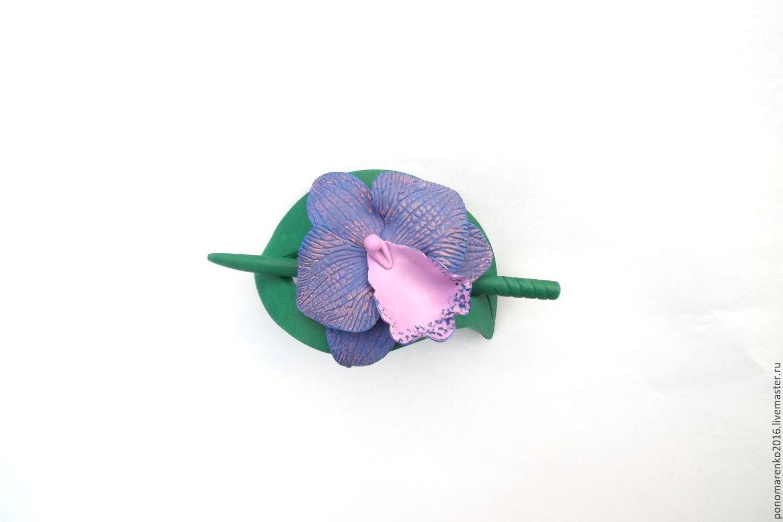 fibula buy, Orchid, pin for shawls