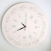 """Для дома и интерьера ручной работы. Ярмарка Мастеров - ручная работа Часы """"Нежность"""". Handmade."""