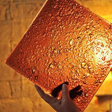 """Посуда ручной работы. Ярмарка Мастеров - ручная работа Тарелка стеклянная """"Квадро"""". Handmade."""