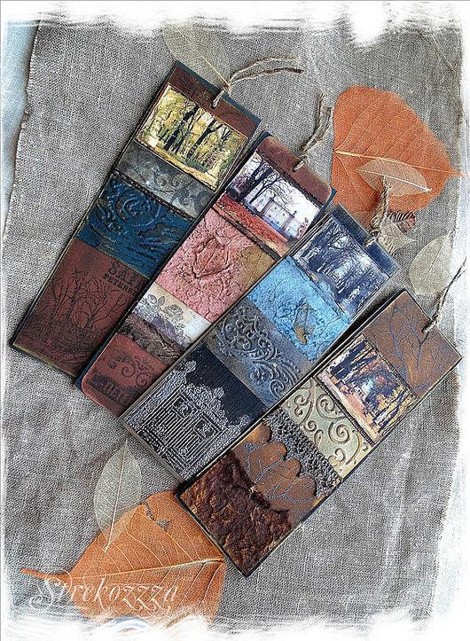 """Закладки для книг ручной работы. Ярмарка Мастеров - ручная работа. Купить Коллекция  закладок """"Воспоминания о Летнем Саде"""" (1). Handmade."""