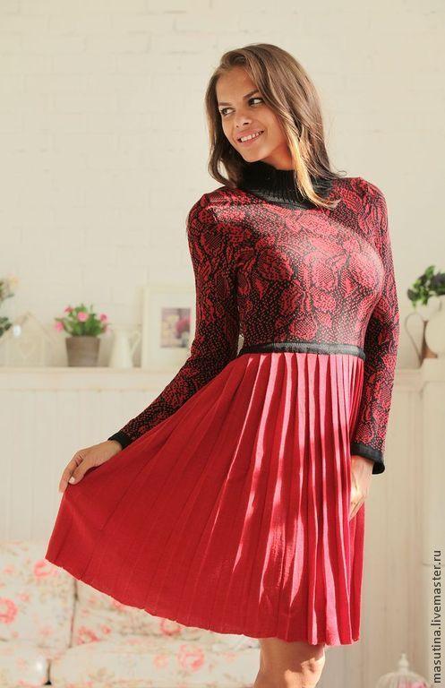 """Платья ручной работы. Ярмарка Мастеров - ручная работа. Купить Платье """"Red flowers"""". Handmade. Бордовый, бартер"""