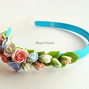 Украшения handmade. Livemaster - original item Headband with flowers made of polymer clay