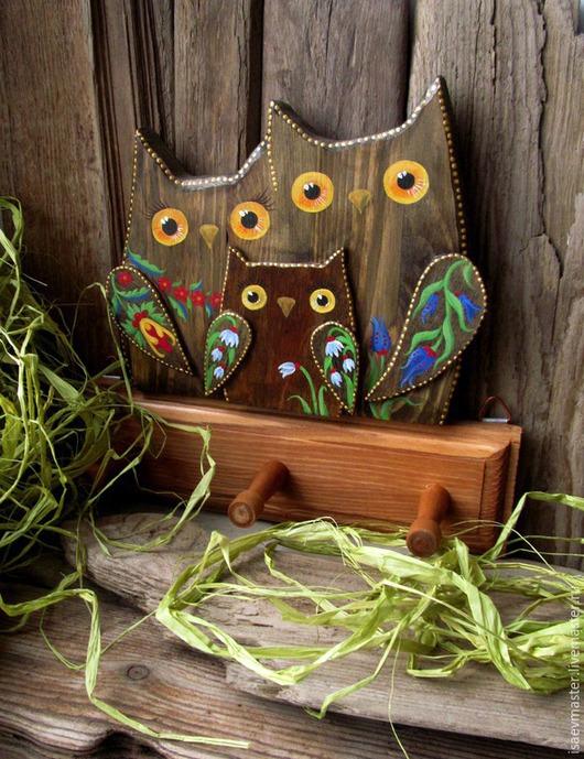 Прихожая ручной работы. Ярмарка Мастеров - ручная работа. Купить Вешалка Семья. Handmade. Сова, дерево, семья, дерево