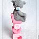 """Мыло ручной работы. Заказать """"Мишка на полотенце LOVE you"""", мыло ручной работы. 'Шурочка', мастер Александра Кучера (mylo-spb). Ярмарка Мастеров."""