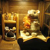 Куклы и игрушки ручной работы. Ярмарка Мастеров - ручная работа Зимний фонарь с мышонком.. Handmade.