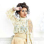 """Одежда ручной работы. Ярмарка Мастеров - ручная работа шифоновая блузка """"бабочки"""". Handmade."""