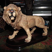 Статуэтки ручной работы. Ярмарка Мастеров - ручная работа Фигурка красавца льва. Handmade.