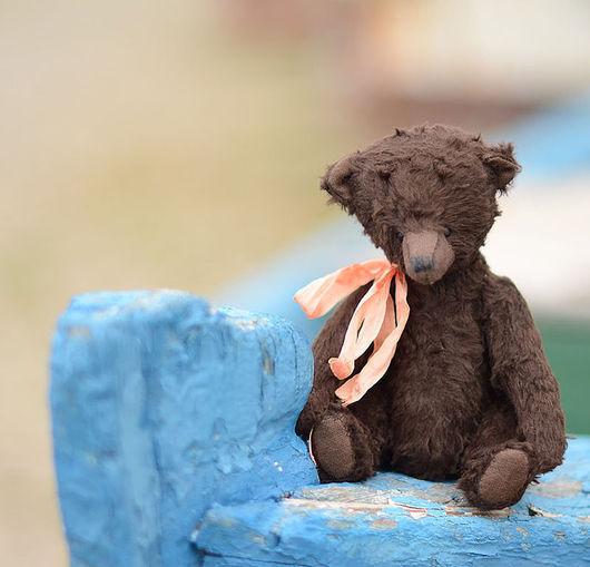 """Мишки Тедди ручной работы. Ярмарка Мастеров - ручная работа. Купить Авторский коллекционный мишка """"Лакки"""" , 20 см. Handmade."""